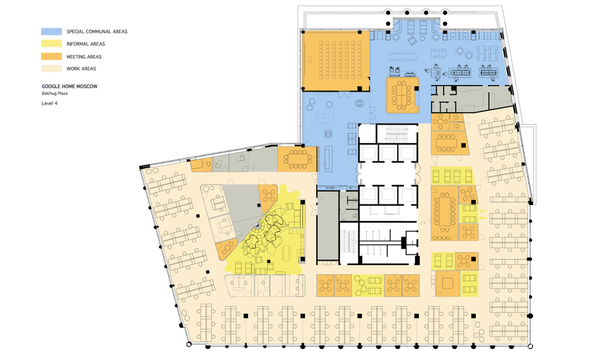 Project plans google office moscow google office for Google house design